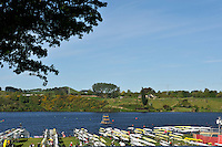 Hamilton, NEW ZEALAND.   GV's. General View. Boat Racks. 2010 World Rowing Championship on Lake Karapiro Saturday  30/10/2010. [Mandatory Credit Peter Spurrier:Intersport Images].