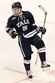 Ryan Hitchcock (Yale - 28) The Boston University Terriers defeated the visiting Yale University Bulldogs 5-2 on Tuesday, December 13, 2016, at the Agganis Arena in Boston, Massachusetts.