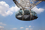 Europe, United Kingdom, England, London. The London Eye Ferris Wheel capsule.