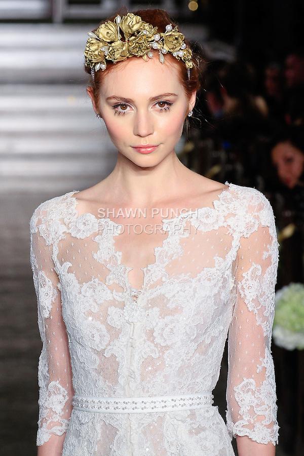 Yaela Wedding Dress For  : Model walks runway in a yaela bridal gown from the atelier pronovias