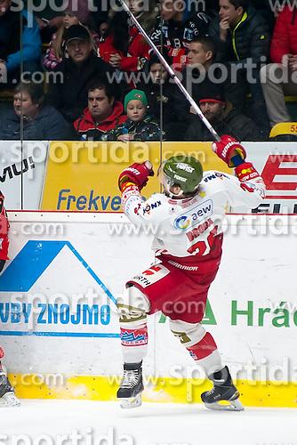 28.12.2015, Ice Rink, Znojmo, CZE, EBEL, HC Orli Znojmo vs HCB Suedtirol, 36. Runde, im Bild Joel Broda (HCB Sudtirol) // during the Erste Bank Icehockey League 36nd round match between HC Orli Znojmo and HCB Suedtirol at the Ice Rink in Znojmo, Czech Republic on 2015/12/28. EXPA Pictures © 2015, PhotoCredit: EXPA/ Rostislav Pfeffer