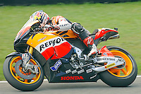 Honda rider Andrea Dovizioso of Italy competes in the MotoGP World Championship, Gran Premio d'Italia at Mugello circuit on June 6, 2010.