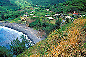 The picturesque tiny fishing village of Kahakuloa, tucked away in the lush slopes of West Maui.