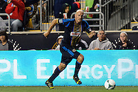 Conor Casey (6) of the Philadelphia Union. The Houston Dynamo defeated the Philadelphia Union 1-0 during a Major League Soccer (MLS) match at PPL Park in Chester, PA, on September 14, 2013.