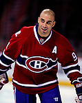 24 September 2009: Montreal Canadiens' center Scott Gomez warms up prior to facing the Boston Bruins at the Bell Centre in Montreal, Quebec, Canada. The Bruins defeated the Canadiens 2-1 in an overtime shootout. Mandatory Photo Credit: Ed Wolfstein Photo