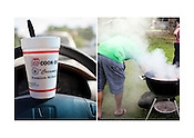 Strawberry & Banana Pudding Shake, Cook-Out, Durham | Wegerzyn Grills, North Gate Park, Durham