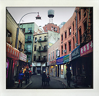 from the series Fake Polaroids. ..Chinatown, New York..photo © Stefan Falke...