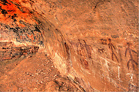 Secret Pictographs - Ancient writing, rock art, Sedona, Arizona