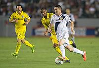 CARSON, CA - July 4, 2013: LA Galaxy forward Robbie Keane (7) during the LA Galaxy vs Columbus Crew match at the StubHub Center in Carson, California. Final score, LA Galaxy 2, Columbus Crew 1.