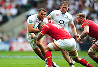 Ellis Genge of England takes on the Wales defence. Old Mutual Wealth Cup International match between England and Wales on May 29, 2016 at Twickenham Stadium in London, England. Photo by: Patrick Khachfe / Onside Images