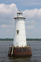 Great Beds Lighthouse, located at the mouth of the Raritan River in Raritan Bay