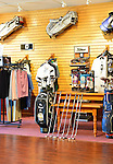 Oceanside, New York, USA. 2nd August 2013. Pro Shop, with Ron Wright Jr golf clubs by Callaway, at South Bay Country Club.