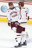 Patch Alber (BC - 3) joins Michael Matheson (BC - 5) as Eagles' starters are announced. - The Boston College Eagles defeated the visiting Dartmouth College Big Green 6-3 (EN) on Saturday, November 24, 2012, at Kelley Rink in Conte Forum in Chestnut Hill, Massachusetts.
