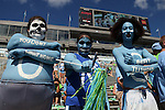 19 September 2015: UNC fans. The University of North Carolina Tar Heels hosted the University of Illinois Fighting Illini at Kenan Memorial Stadium in Chapel Hill, North Carolina in a 2015 NCAA Division I College Football game. UNC won the game 48-14.