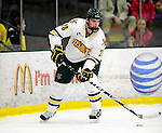 9 January 2011: University of Vermont Catamount defenseman Dan Lawson, a Senior from Oak Forest, IL, in action against the Boston University Terriers at Gutterson Fieldhouse in Burlington, Vermont. The Catamounts fell to the Terriers 4-2 in Hockey East play. Mandatory Credit: Ed Wolfstein Photo