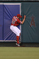 05/29/12 Anaheim, CA:Los Angeles Angels center fielder Peter Bourjos #25 during an MLB game played between the New York Yankees and the Los Angeles Angels at Angel Stadium. The Angels defeated the Yankees 5-1.