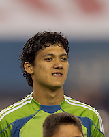 Seattle Sounders FC forward Fredy Montero (17). The New England Revolution defeated the Seattle Sounders FC, 3-1, at Gillette Stadium on September 4, 2010.