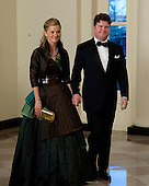 Matthew Barzun, National Finance Chair for Obama for America 2012, and Brooke Barzun arrive for the Official Dinner in honor of Prime Minister David Cameron of Great Britain and his wife, Samantha, at the White House in Washington, D.C. on Tuesday, March 14, 2012..Credit: Ron Sachs / CNP.(RESTRICTION: NO New York or New Jersey Newspapers or newspapers within a 75 mile radius of New York City)