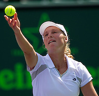Ekaterina Makarova (RUS) against Agnieska RADWANSKA (POL) in the first round of the women's singles. Radwanska beat Makarova 7-5 6-0..International Tennis - 2010 ATP World Tour - Sony Ericsson Open - Crandon Park Tennis Center - Key Biscayne - Miami - Florida - USA - Thurs  25 Mar 2010..© Frey - Amn Images, Level 1, Barry House, 20-22 Worple Road, London, SW19 4DH, UK .Tel - +44 20 8947 0100.Fax -+44 20 8947 0117