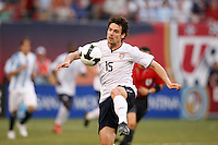 United States defender Heath Pearce (15). The men's national teams of the United States and Argentina played to a 0-0 tie during an international friendly at Giants Stadium in East Rutherford, NJ, on June 8, 2008.