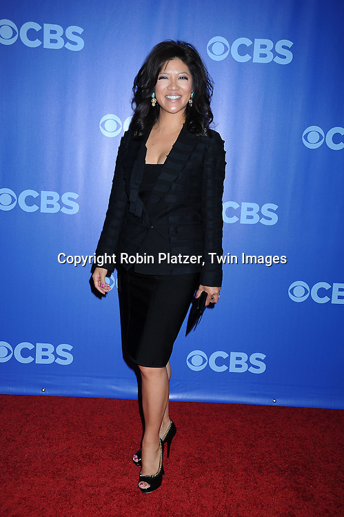 Julie Chen arriving at The CBS UPfront presentation of their 2010-2011 Season on May 19, 2010 at Lincoln Center.