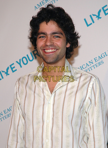 "ADRIAN GRENIER.American Eagle Outfitters' ""Live Your Life Contest"" winners at the Union Square flagship store in Manhattan, New York, New York..July 27th, 2005  .Photo Credit: Patti Ouderkirk/AdMedia.half length .www.capitalpictures.com.sales@capitalpictures.com.© Capital Pictures."
