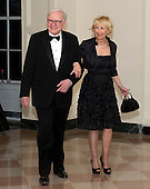 Warren Buffett and Astrid M. Buffett arrive for the Official Dinner in honor of Prime Minister David Cameron of Great Britain and his wife, Samantha, at the White House in Washington, D.C. on Tuesday, March 14, 2012..Credit: Ron Sachs / CNP.(RESTRICTION: NO New York or New Jersey Newspapers or newspapers within a 75 mile radius of New York City)