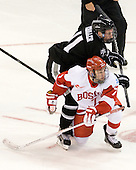 Tim Schaller (PC - 11), Cason Hohmann (BU - 7) - The Boston University Terriers defeated the visiting Providence College Friars 4-2 (EN) on Saturday, December 13, 2012, at Agganis Arena in Boston, Massachusetts.