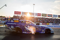 Sep 23, 2016; Madison, IL, USA; NHRA funny car driver Jack Beckman during qualifying for the Midwest Nationals at Gateway Motorsports Park. Mandatory Credit: Mark J. Rebilas-USA TODAY Sports