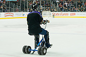 Fan driving tricycle during ice-hockey match between Los Angeles Kings and Detroit Red Wings in NHL league, February 28, 2011 at Staples Center, Los Angeles, USA. (Photo By Matic Klansek Velej / Sportida.com)