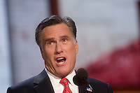 TAMPA, FL - August 30, 2012 - Remarks by presidential nominee Mitt Romney on the final night of the 2012 Republican National Convention.