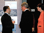 FBI Director Louis J. Freeh, left, conducts a tour of the FBI Headquarters in Washington, DC for United States President Bill Clinton, center, and Attorney General Janet Reno, right, after he was sworn-in as director on September 1, 1993.<br /> Credit: Ron Sachs / CNP
