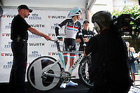 Andy Schleck's TT was a conservative effort.  He looked quite fit at check-in.
