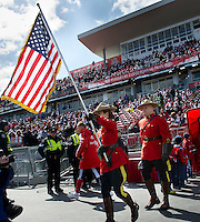 26 March 2011: The Royal Canadian Mounted Police carry the flag of the United States of America during the opening ceremonies of an MLS game between the Portland Timbers and the Toronto FC at BMO Field in Toronto, Ontario Canada..Toronto FC won 2-0....