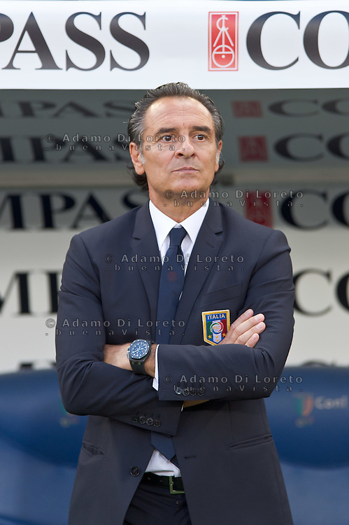 Argentina beats Italy 2-1 during the international friendly between Italy vs Argentina at Stadio Olimpico, in Rome, on August 14, 2013 in Rome. In the photo: cesare Prandelli. Photo: Adamo Di Loreto/BuenaVista*photo