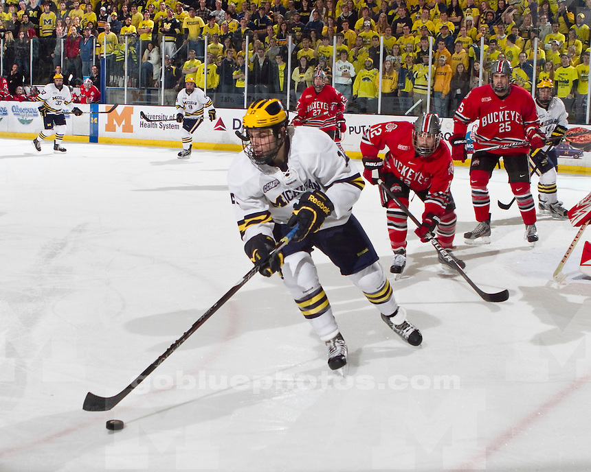 The University of Michigan men's hockey team lost 6-5 to Ohio State University at Yost Arena in Ann Arbor Mich., on Saturday, November 19, 2011.