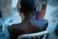 A cholera patient is treated at the Hospital Albert Schweitzer on Saturday, October 30, 2010 in Deschapelles, Haiti.