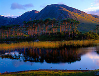 Sunrise on Lakes Near Cliffden, Republic of Ireland Coastal Mountains County Galway Atlantic Ocean  September