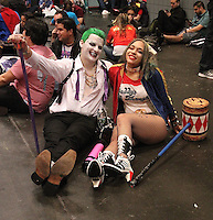 NEW YORK, NY - OCTOBER 7: 'Suicide Squad' cosplayers at New York Comic-Con at Jacob Javits Center  in New York, New York on October 7, 2016.  Photo Credit: Rainmaker Photo/MediaPunch