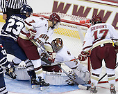 Charlie McDonald (Toronto - 23), Isaac MacLeod (BC - 7), Parker Milner (BC - 35), Brian Gibbons (BC - 17) - The Boston College Eagles defeated the visiting University of Toronto Varsity Blues 8-0 in an exhibition game on Sunday afternoon, October 3, 2010, at Conte Forum in Chestnut Hill, MA.