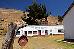 South America, Bolivia, Pariti. Local school on Pariti Island.