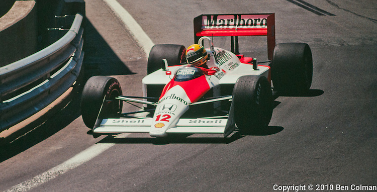 Ayrton Senna in the McLaren MP4-4, Detroit 1988