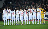 FUSSBALL   1. BUNDESLIGA  SAISON 2011/2012   12. Spieltag FC Augsburg - FC Bayern Muenchen         06.11.2011 FC Augsburg trauert um dem ermordeten Polizisten