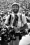 Ron Bennett Photojournalist, Ron Bennett White House Photographer with crowd in background,