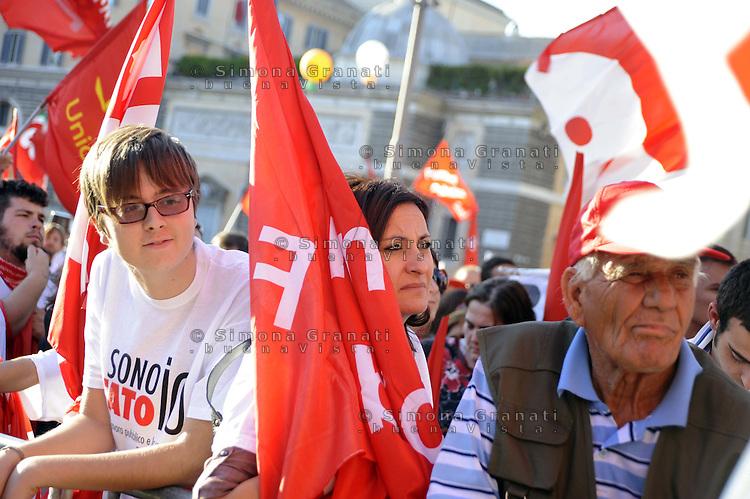 """Roma, 8 Ottobre 2011.Manifestazione nazionale CGIL dei  Lavoratori pubblici e della conoscenza..""""Pubblico è futuro"""""""