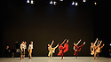 "London, UK. 29.03.2016. Richard Alston Dance Company presents ""An Italian In Madrid"" at Sadler's Wells. horeographed by Richard Alston, lighting design by Karl Oskar Sordal, costume design by Fotini Dimou. Dancers are: Ihsaan de Banya, Liam Riddick, Nicholas Bodych, James Muller, Ryan Ledger, Jennifer Hayes, Nancy Nerantzi, Elly Braund, Oihana Vesga Bujan, Sharia Johnson, Vidya Patel.  Photograph © Jane Hobson."
