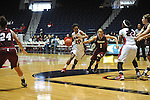 "Ole Miss' Amber Singletary (20) vs. UMass' Nola Henry (1) at the C.M. ""Tad"" Smith Coliseum in Oxford, Miss. on Saturday, December 8, 2012."
