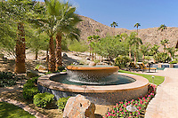 Large fountain of desert home