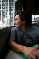 Javier Tellez, son of  Pablo Tellez Leader of the Associasion de Pepenadores Estacion de Transferencia y Planta de Seleccion of the Bordo Poniente (transfer and recycling center)  Mexico City.  Mexico DF, 09-08-07