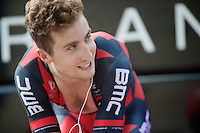 2013 Giro d'Italia.stage 8: iTT from Gabicce Mare to Saltara.54,8 km..Taylor Phinney (USA) warming up to his TT